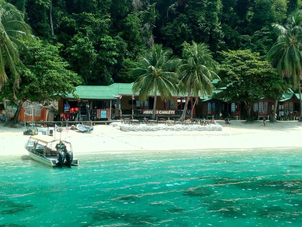 Abdul's Chalet in Malaysia's Perhentian Besar Island.