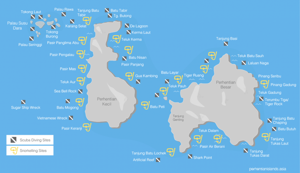 Snorkelling and dive sites in Malaysia's Perhentian Islands