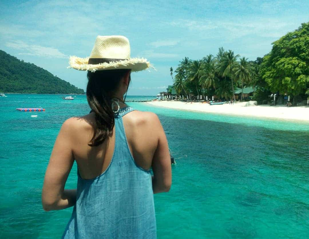 The view of Perhentian Besar island from the jetty // travelmermaid.com