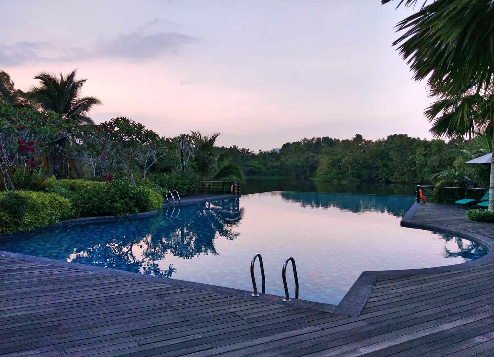 The shared pool and landscape at Mangala Resort & Spa in Malaysia // travelmermaid.com