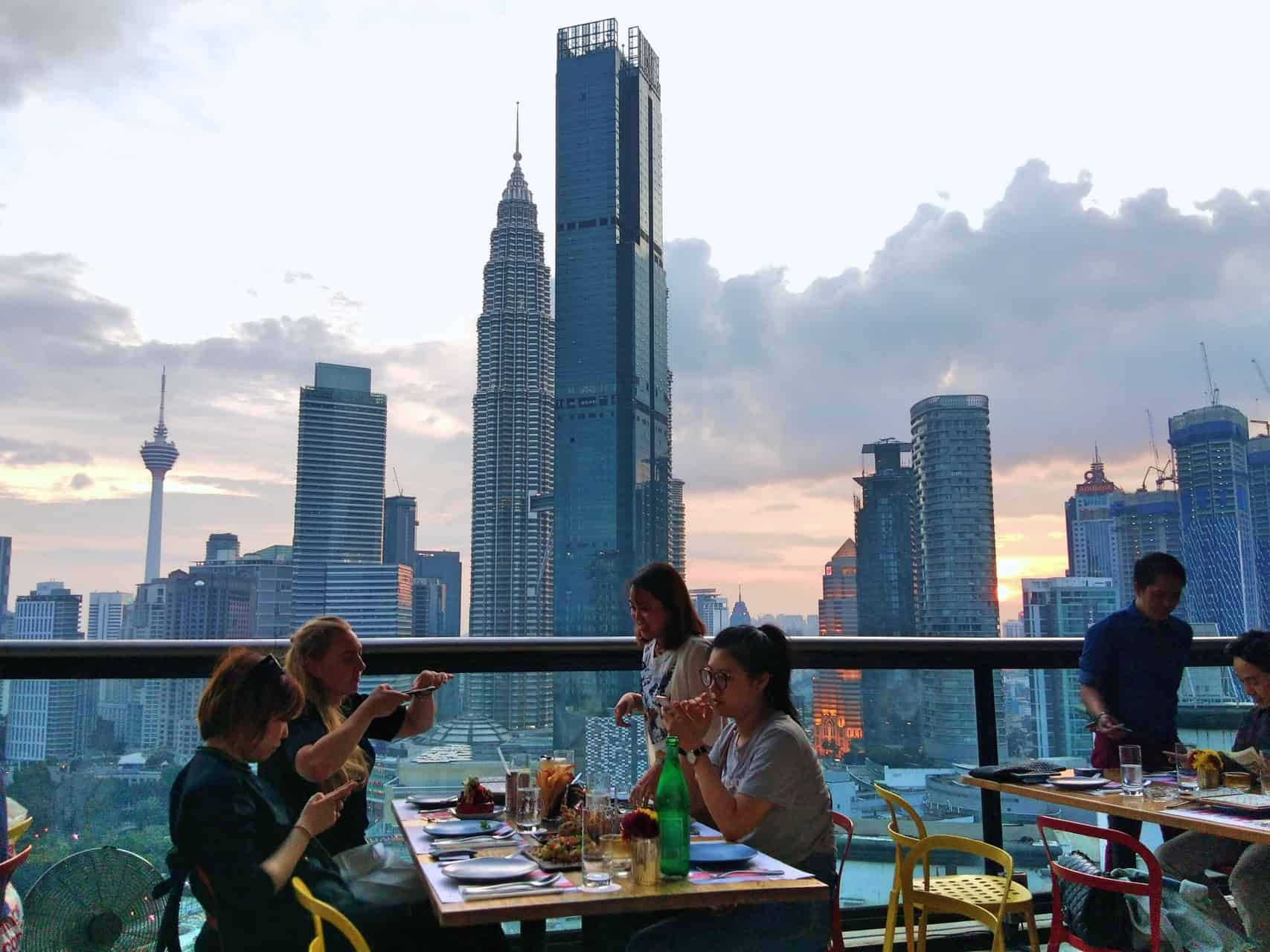 View from the restaurant at Fuegos Sky Dining in Kuala Lumpur // travelmermaid.com