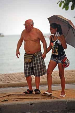 Images such as these are not uncommon in Pattaya