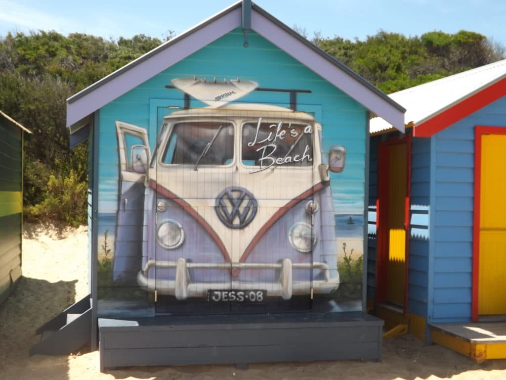 Brighton Beach bathing box in Melbourne, Australia.