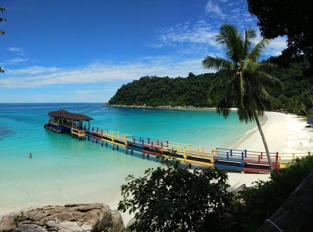 Teluk Pauh beach in Perhentian Besar.