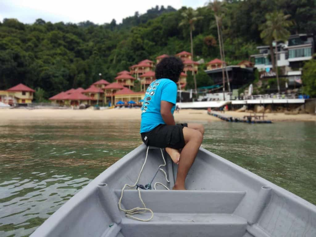 Travelling via boat in the Perhentian Islands.