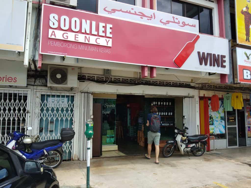 Bottle shop SoonLee Agency in Kota Bharu.