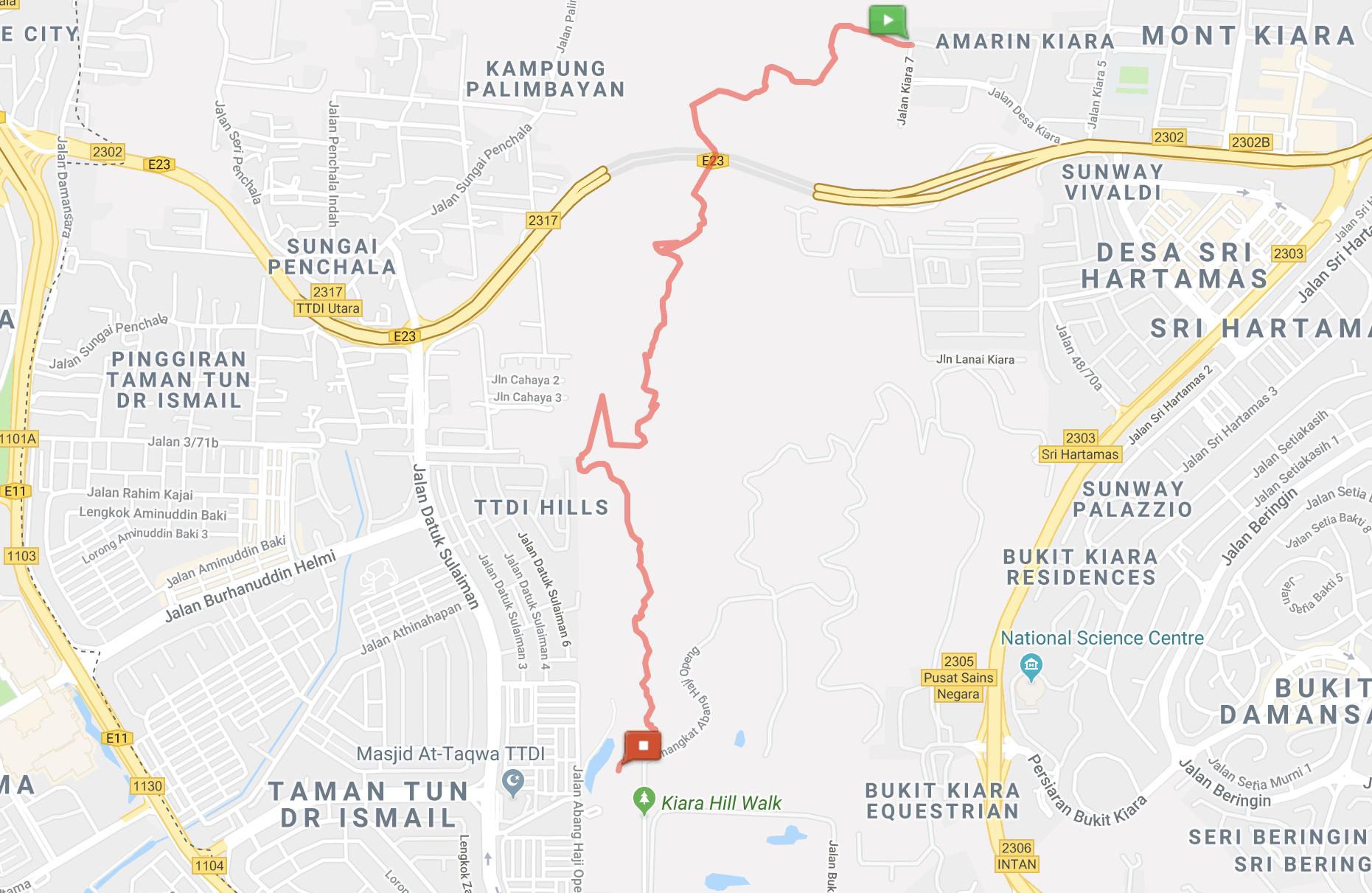 Bukit-Kiara-jungle-hike-Trail-Map-Kuala-Lumpur-1-Malaysia ] Travel Mermaid