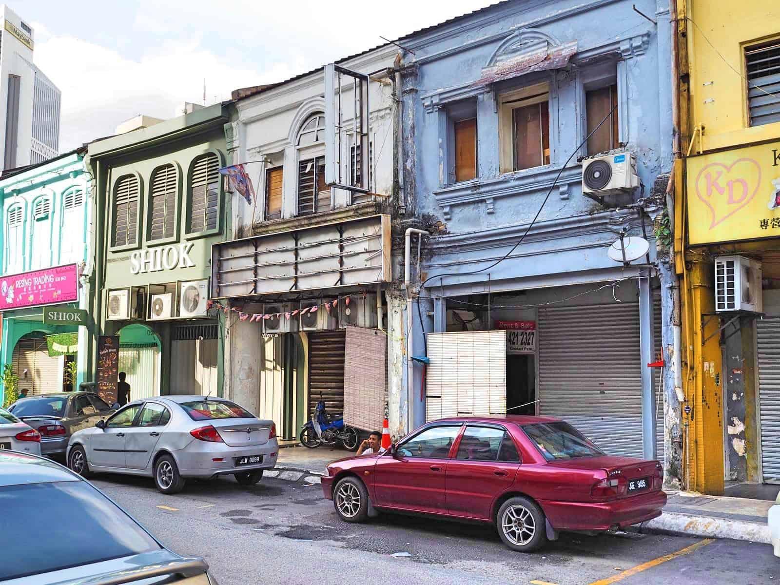 Old Chinese shophouses in Chinatown, Kuala-Lumpur- Malaysia-Travel-Mermaid