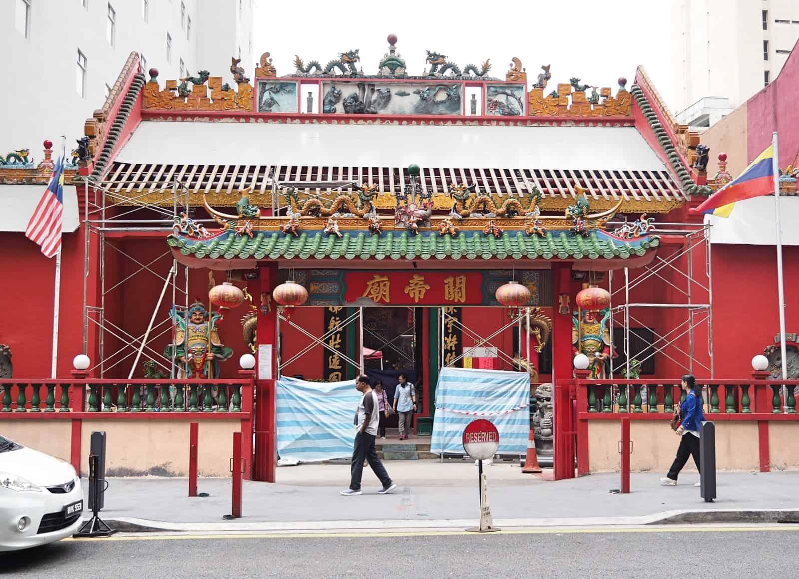 Guan Di Temple in Chinatown, Kuala Lumpur
