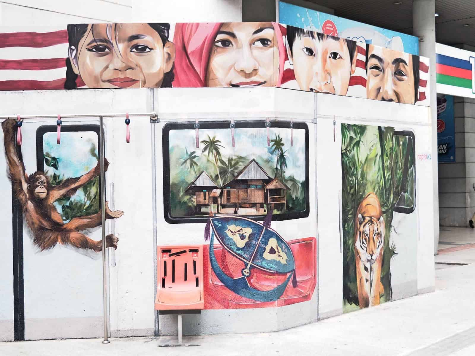 KLCC-Mural-Kuala-Lumpur-Malaysia ] Travel Mermaid