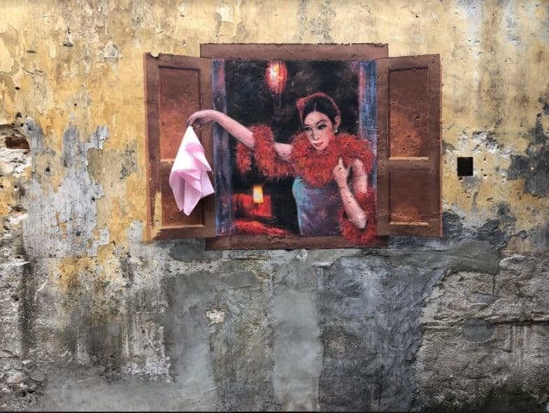 A mural of a prostitute : Kwai Chai Hong heritage lane in Kuala Lumpur's Chinatown