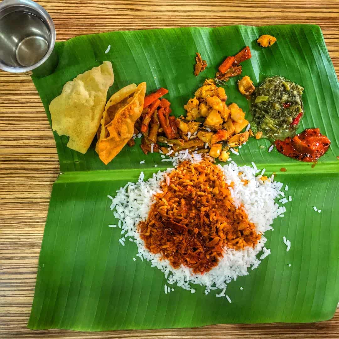 awesome banana leaf rice in Kuala Lumpur