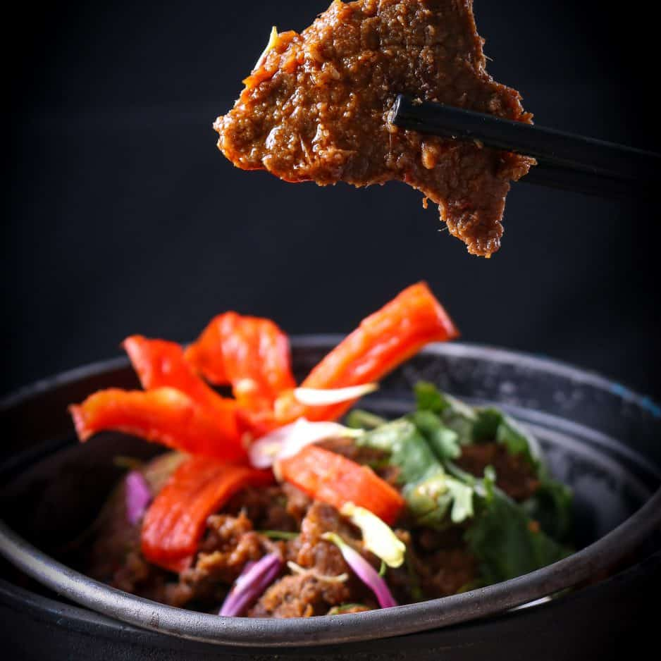 Beef rendang at Opium restaurant in Kuala Lumpur