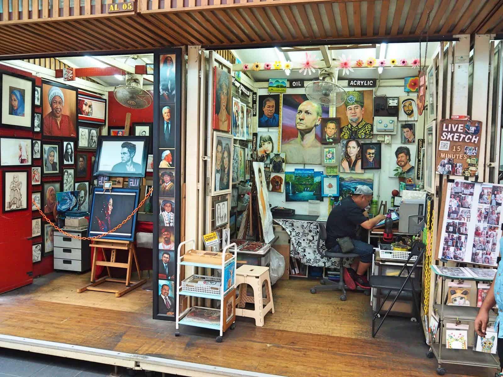 portrait-artists-Central-Market-Chinatown-Kuala-Lumpur-Malaysia ] Travel Mermaid