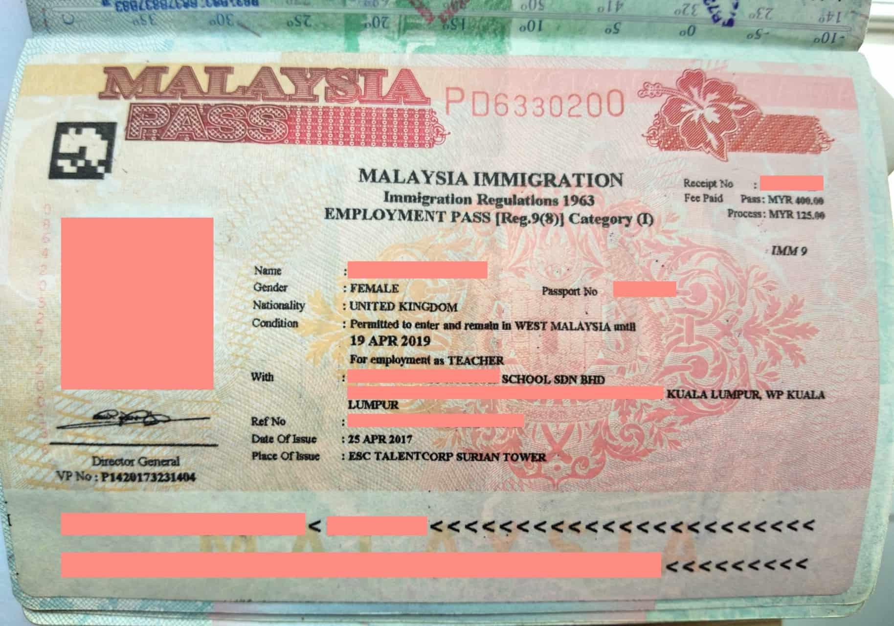Malaysian-visa-expat-Employment-Pass-1 ] Travel Mermaid